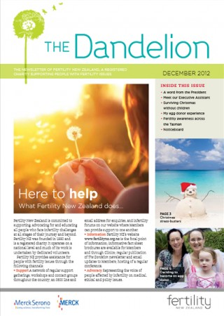 December 2012 Dandelion Newsletter