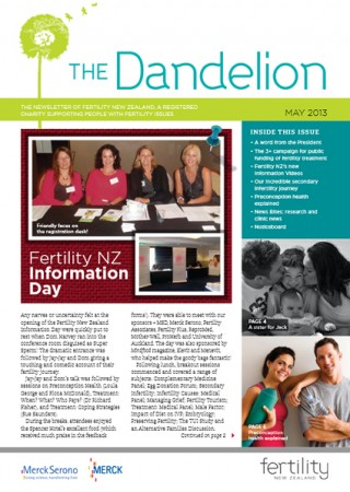 May 2013 Dandelion Newsletter