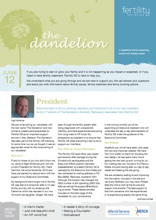 July 2012 Dandelion Newsletter