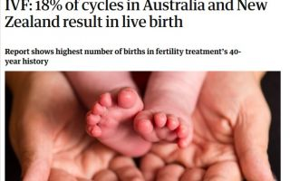 Success of IVF in NZ and Australia