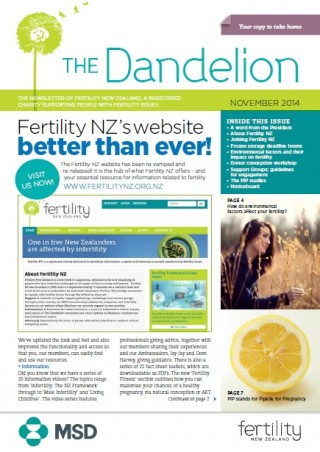November 2014 Dandelion newsletter