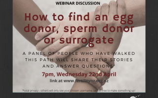 How to find an egg/sperm donor or surrogate Webinar - recording